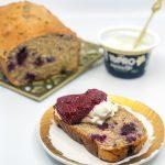 Baked Berry and YoPRO Yoghurt Breakfast Bread